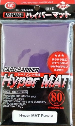 KMC Card Barrier Mat Series Standard Size Deck Protectors Pack - Hyper Matte Purple