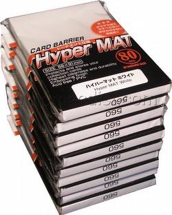KMC Card Barrier Mat Series Standard Size Deck Protectors - Hyper Matte White [10 packs]