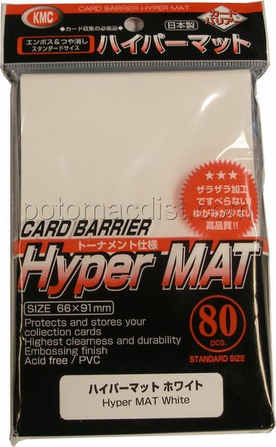 KMC Card Barrier Mat Series Standard Size Sleeves Pack - Hyper Matte White