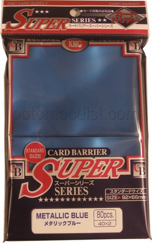KMC Card Barrier Super Series Standard Size Sleeves - Metallic Blue Pack