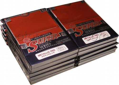 KMC Card Barrier Super Series Standard Size Sleeves - Metallic Red [10 packs]