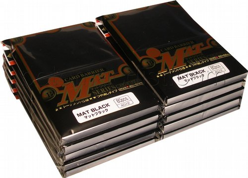 KMC Card Barrier Mat Series Standard Size Sleeves - Matte Black [10 packs]
