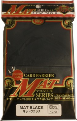 KMC Card Barrier Mat Series Standard Size Sleeves - Matte Black Pack