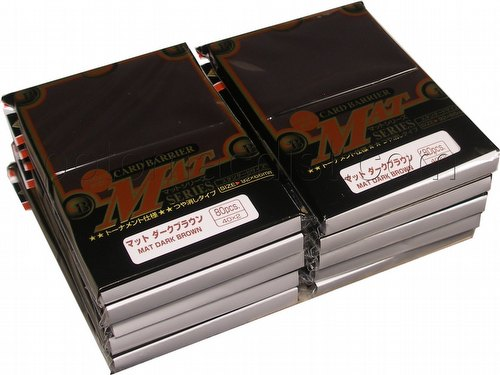 KMC Card Barrier Mat Series Standard Size Sleeves - Matte Dark Brown [10 packs]