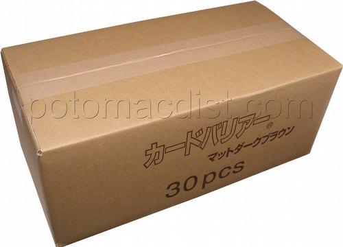 KMC Card Barrier Mat Series Standard Size Deck Protectors - Matte Dark Brown Case [30 packs]