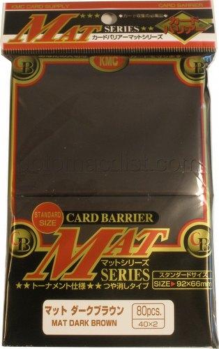 KMC Card Barrier Mat Series Standard Size Deck Protectors - Matte Brown Pack
