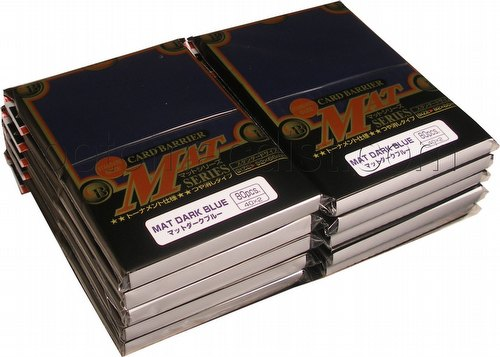 KMC Card Barrier Mat Series Standard Size Sleeves - Matte Dark Blue [10 packs]