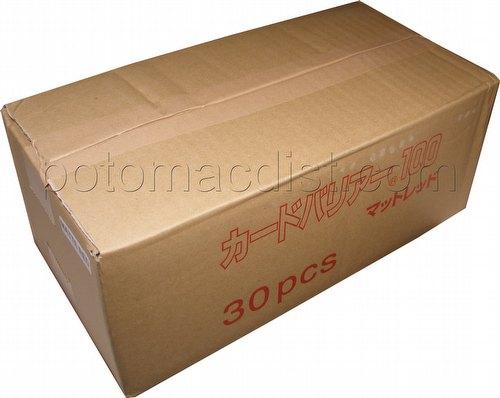 KMC Card Barrier Mat Series Standard Size Deck Protectors - Matte Red Case [30 packs]