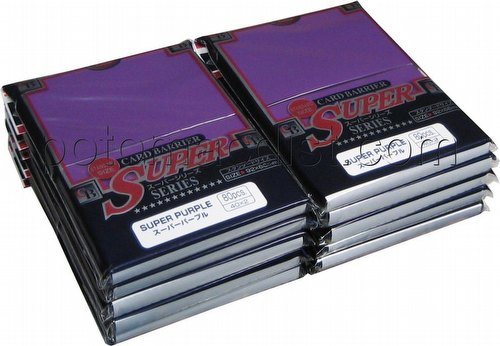 KMC Card Barrier Super Series Standard Size Sleeves - Super Purple [10 packs]
