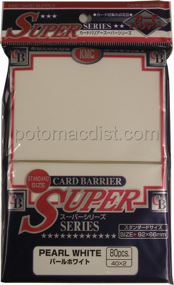 KMC Card Barrier Super Series Standard Size Sleeves - Pearl White Pack