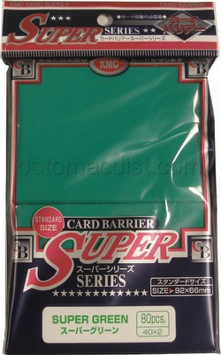 KMC Card Barrier Super Series Standard Size Sleeves - Super Green Pack