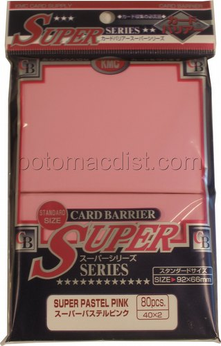 KMC Card Barrier Super Series Standard Size Deck Protectors - Super Pastel Pink Pack
