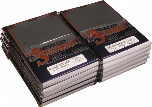 KMC Card Barrier Super Series Standard Size Deck Protectors - Super Silver [10 packs]