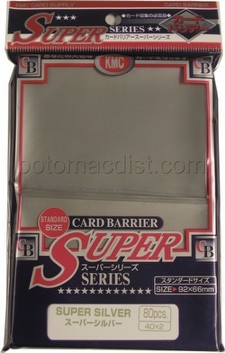 KMC Card Barrier Super Series Standard Size Deck Protectors - Super Silver Pack