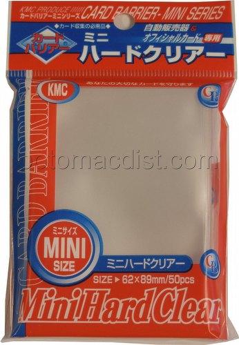 KMC Card Barrier Mini Series Yu-Gi-Oh Size Deck Protectors Pack - Mini Hard Clear