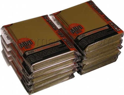 KMC Card Barrier Mini Series Yu-Gi-Oh Size Sleeves - Gold [10 packs]