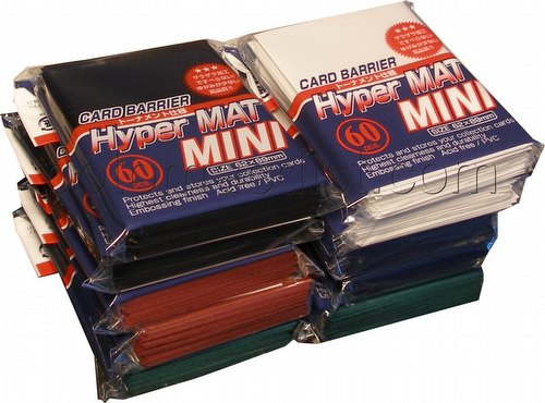 KMC Card Barrier Hyper Mat Mini Yu-Gi-Oh Size Sleeves - Hyper Matte Mixed Colors [10 packs]