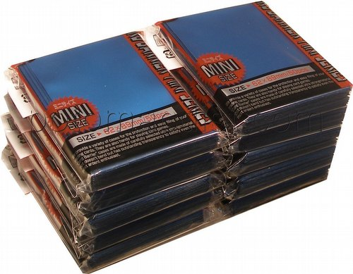 KMC Card Barrier Mini Series Yu-Gi-Oh Size Deck Protectors - Metallic Blue [10 packs]