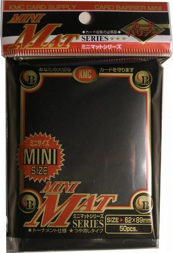 KMC Card Barrier Mini Mat Series Yu-Gi-Oh Size Sleeves Pack - Matte Black