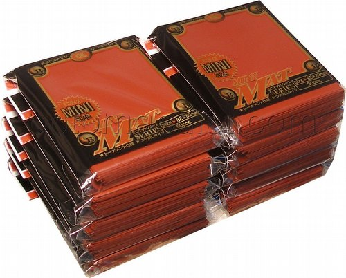 KMC Card Barrier Mini Mat Series Yu-Gi-Oh Size Sleeves - Matte Red [10 packs]