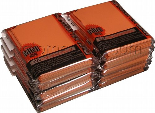 KMC Card Barrier Mini Series Yu-Gi-Oh Size Sleeves - Orange [10 packs]