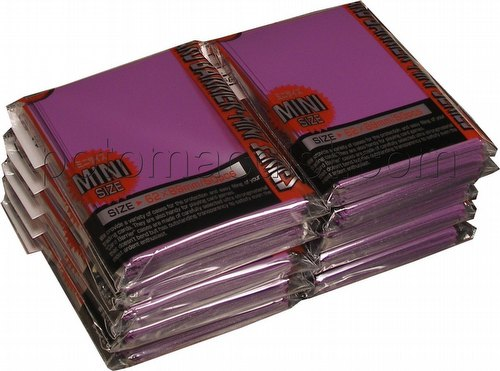 KMC Card Barrier Mini Series Yu-Gi-Oh Size Sleeves - Purple [10 packs]