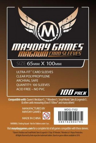Mayday 7 Wonders Magnum Ultra-Fit Board Game Sleeves Pack [65mm x 100mm]