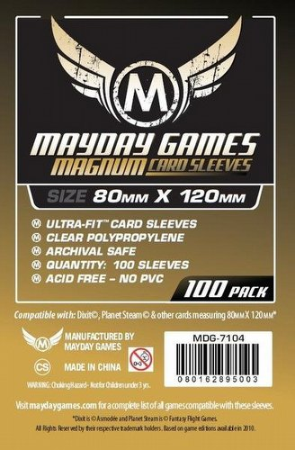 Mayday Dixit Magnum Ultra-Fit Board Game Sleeves [10 Packs/80mm x 120mm]