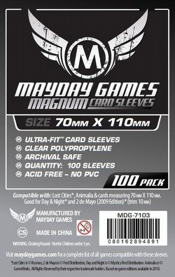 Mayday Lost Cities Magnum Ultra-Fit Board Game Sleeves [10 Packs/70mm x 110mm]
