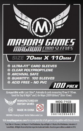 Mayday Lost Cities Magnum Ultra-Fit Board Game Sleeves Pack [70mm x 110mm]