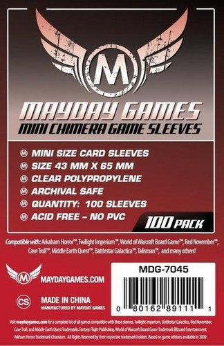Mayday Mini Chimera Board Game Sleeves [10 Packs/43mm x 65mm]