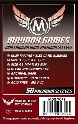 Mayday Mini Chimera Premium Board Game Sleeves Case [100 Packs/43mm x 65mm]