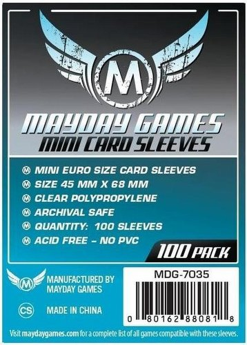 Mayday Mini European Board Game Sleeves [45mm x 68mm/4 packs]