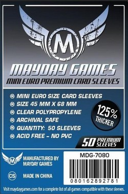 Mayday Mini European Premium Board Game Sleeves Pack [45mm x 68mm/2 packs]