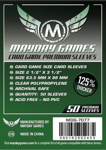 Mayday Card Game Premium Sleeves [63.5mm x 88mm/3 packs]
