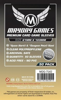 Mayday Space Alert/Dungeon Petz Board Game Sleeves Pack [61mm x 103mm]