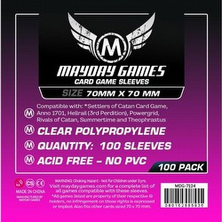 Mayday Square Board Game Sleeves [10 Packs/70mm x 70mm]