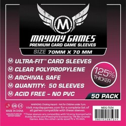 Mayday Square Premium Board Game Sleeves Case [100 Packs/70mm x 70mm]
