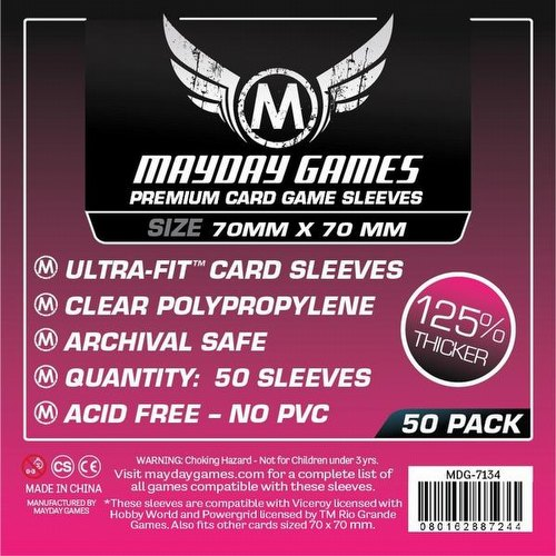 Mayday Square Premium Board Game Sleeves Pack [70mm x 70mm]