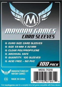 Mayday Standard European Board Game Sleeves Case [100 Packs/59mm x 92mm]