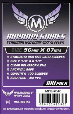 Mayday Standard USA American Board Game Sleeves Case [100 Packs/56mm x 87mm]