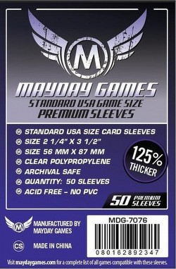 Mayday Standard USA American Premium Board Game Sleeves Case [100 Packs/56mm x 87mm]