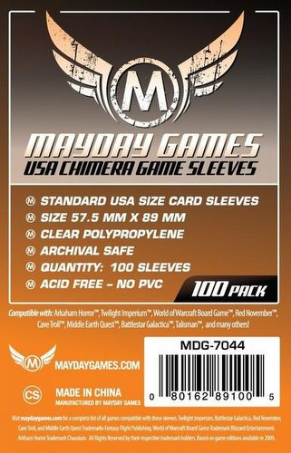 Mayday Standard USA American Chimera Board Game Sleeves Pack [57.5mm x 89mm]