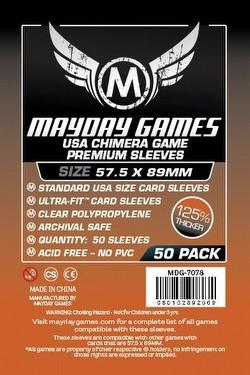 Mayday Standard USA American Chimera Premium Board Game Sleeves [57.5mm x 89mm/4 packs]