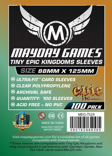 Mayday Tiny Epic Kingdoms Board Game Sleeves [10 Packs/88mm x 125mm]