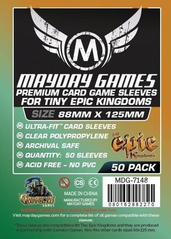 Mayday Tiny Epic Kingdoms Premium Board Game Sleeves Pack [88mm x 125mm]