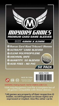 Mayday Tribune Roman Card Size Premium Board Game Sleeves [10 Packs/49mm x 93mm]