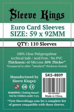 Sleeve Kings Euro Board Game Sleeves Pack [59mm x 92mm/10 packs]