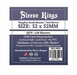 Sleeve Kings Kingdom Death Monster Board Game Sleeves Pack [52mm x 52mm]