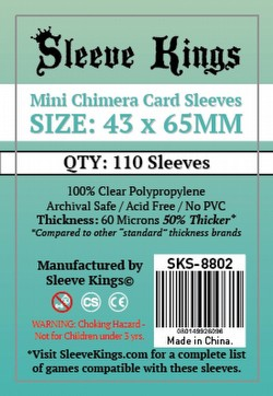 Sleeve Kings Mini Chimera Board Game Sleeves Pack [43mm x 65mm/10 packs]